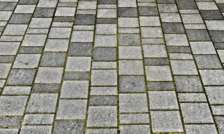 Nettoyer une terrasse avec des pavés autobloquants