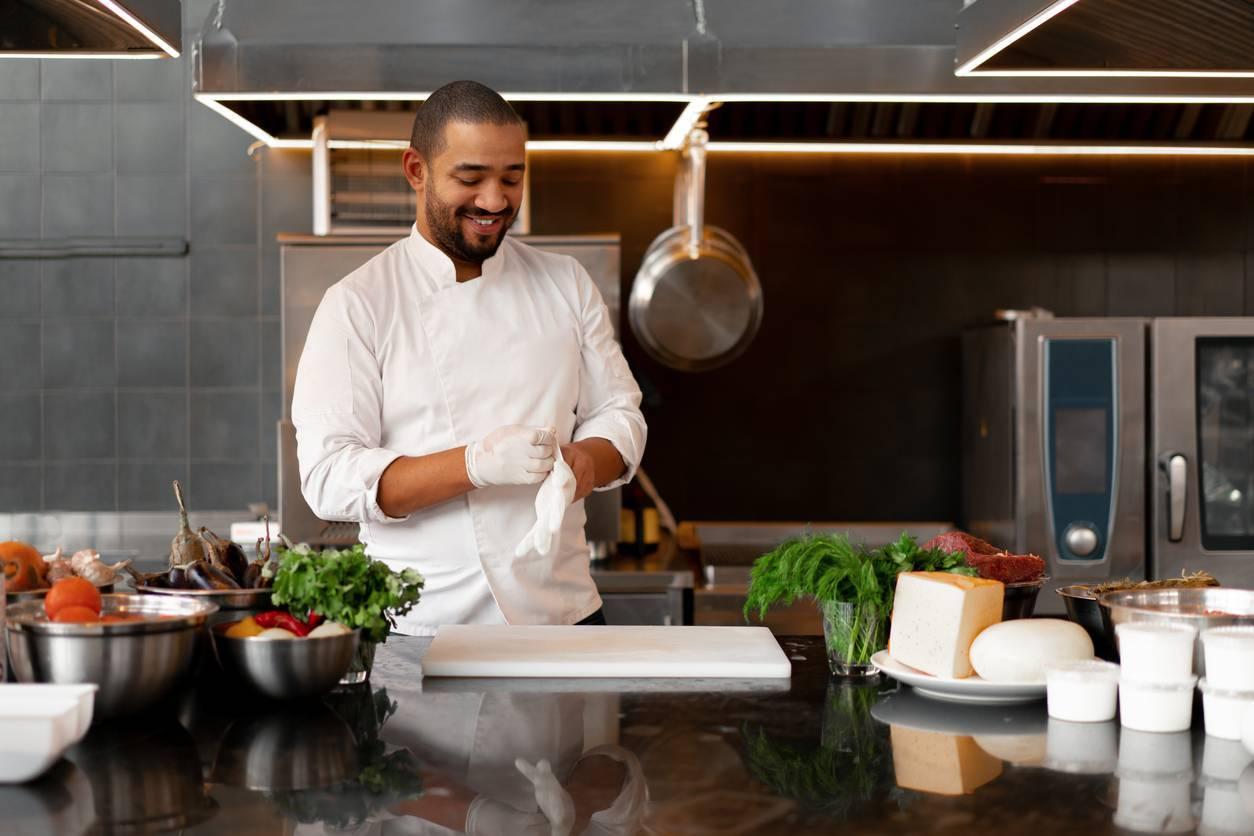 travail cuisine équipements protection